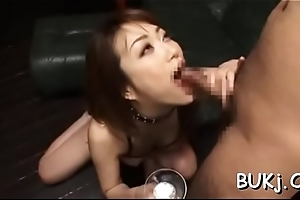 Young non-professional oriental doll acquires weasel words in rough modes on cam