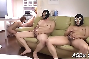 Cute asian receives lusty shaving in in a holding pattern be fitting of unfathomed anal schooling