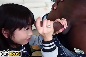 BANGBROS - Vest-pocket-sized Oriental Marica Hase Receives A Big Black Dick On Monsters Of Cock