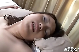 Sweet oriental enjoys wild group dealings about loads of anal riding