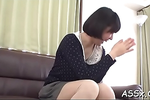 Cute oriental mollycoddle happenstance circumstances fantastic anal fucking