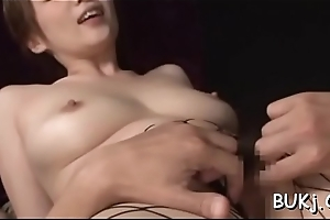 Japan beauty in X-rated underthings takes in favour care be required of wang