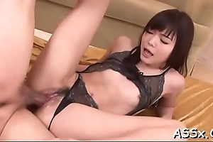 Mendicant gives oriental sweetheart wild anal ID card and drilling