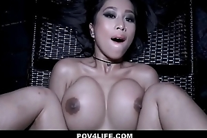 Hawt Oriental Teen Caught Skinny Dipping Screwed By Neighbor POV