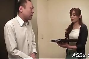Reticle anal for busty oriental hottie