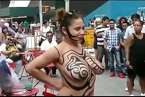 Girl Show Their way Big Boobs &amp_ Nude Body Painting