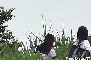 Japanese legal age teenager skanks pee