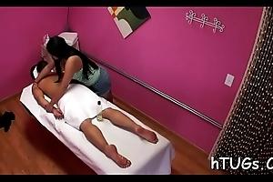 Telling him a excellent massage