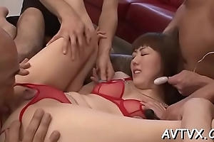 Toying a excited japanese salacious cleft