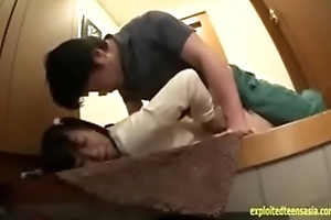 Japanese teen Yuzu is molested with an increment of forced  wide an elevator