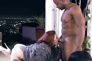 Regimen redhead unshaded in all directions high heels shagged wide of saleable insidious man