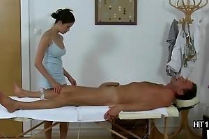 Asian masseuse fucking real customer