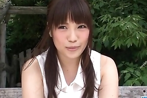 Sweet outdoor solo insult with Yuri Sato