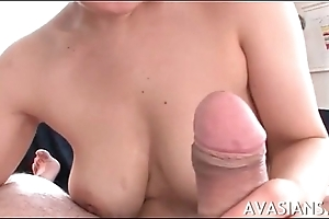Soft titjob and impressive deepthroat be required of young asian